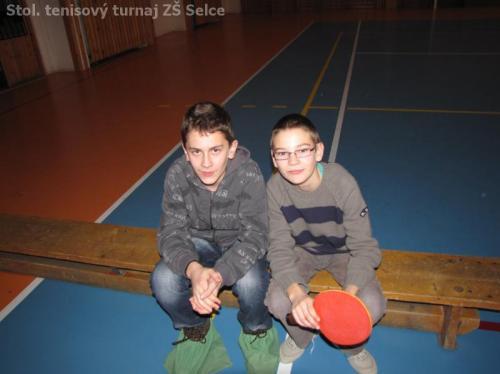 Stol. tenisový turnaj ZŠ Selce